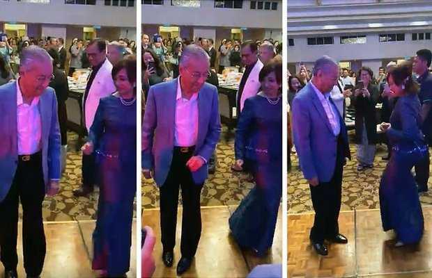 PM Mahathir dance