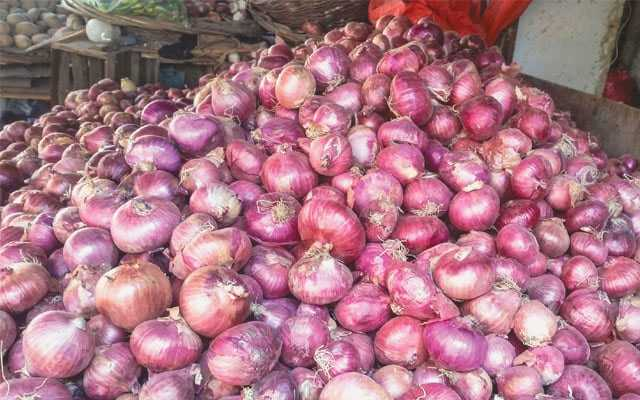 Onions and red chillies