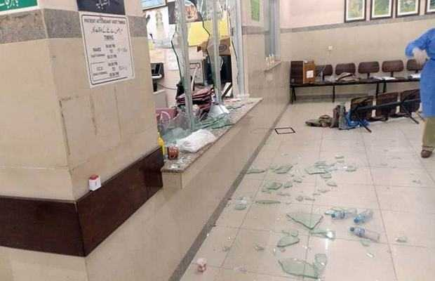 Mob vandalises JMPC ward