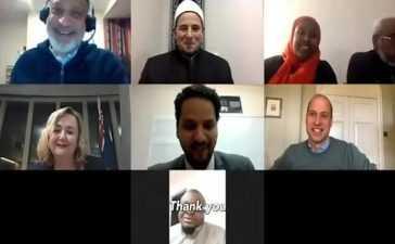 Prince William with Christchurch Muslim Community