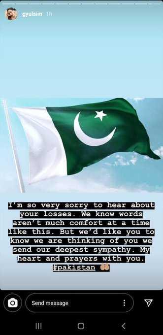 Gulsim Ali's special message