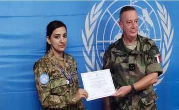 Pakistani Female UN Peacekeeper Officer
