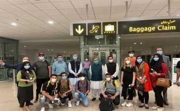 The returning Pakistani students