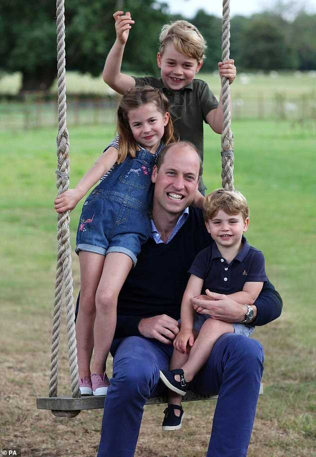 Prince William with his children