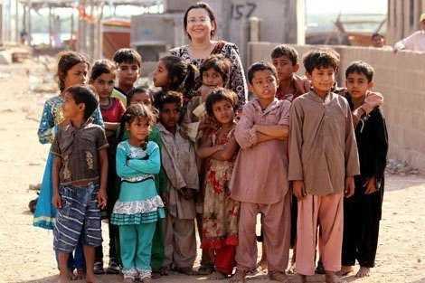 Dr. Anita Zaidi with children