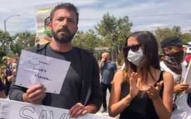 Ben Affleck in protest