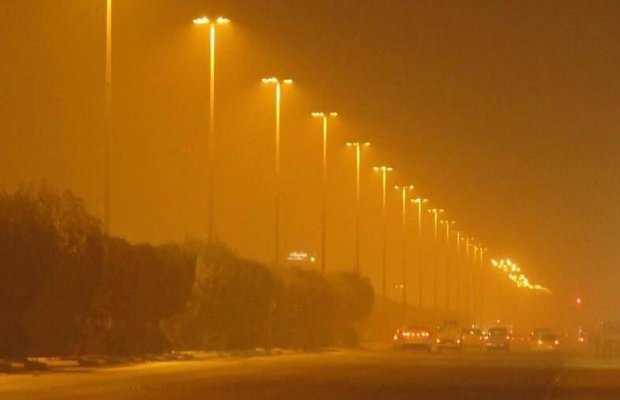 Heavy dust storm in Karachi