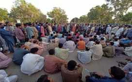 Hundreds of PSM worker protest