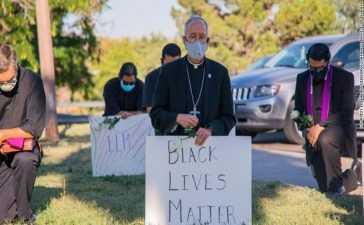 El Paso Bishop in protest