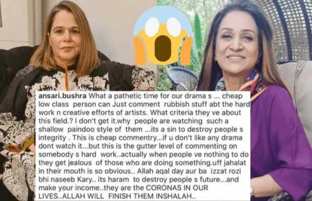 Bushra Ansari Lashes Out