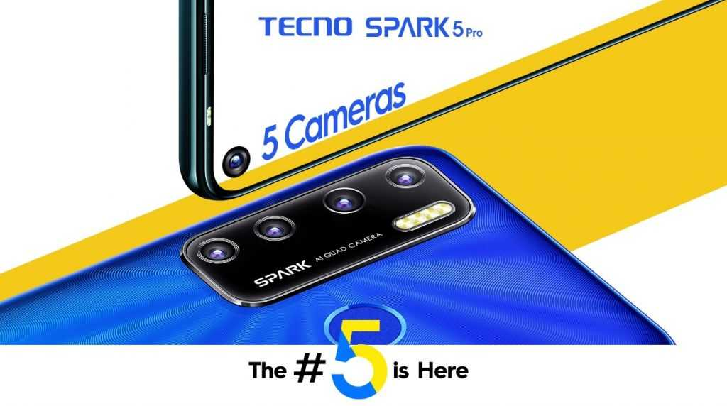 TECNO's Spark 5 Pro 5cameras