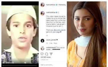 mahira khan shared video