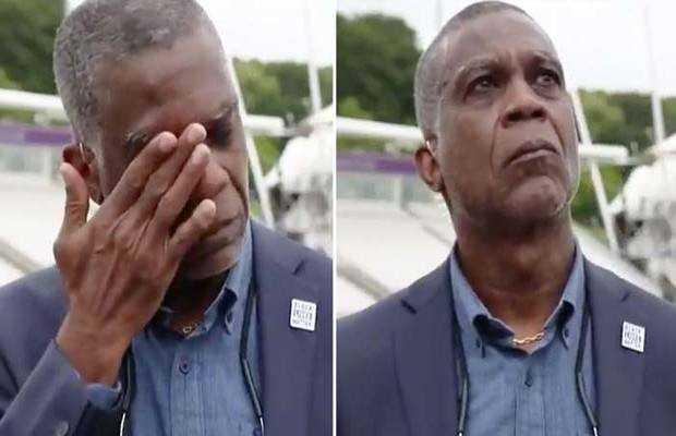 Michael Holding teary eye