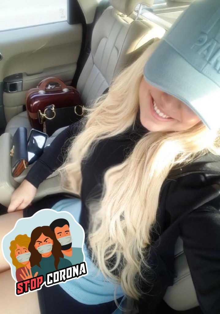 Aayan inside car