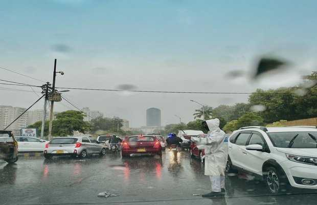 first rain of summer 2020