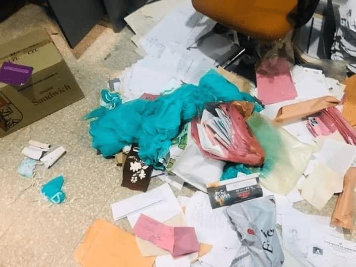 files speading on the floor