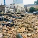 Karachi Rain: Millions of worth cars destroyed as parking wall collapses at I.I. Chundrigar Road