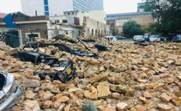 parking wall collapses
