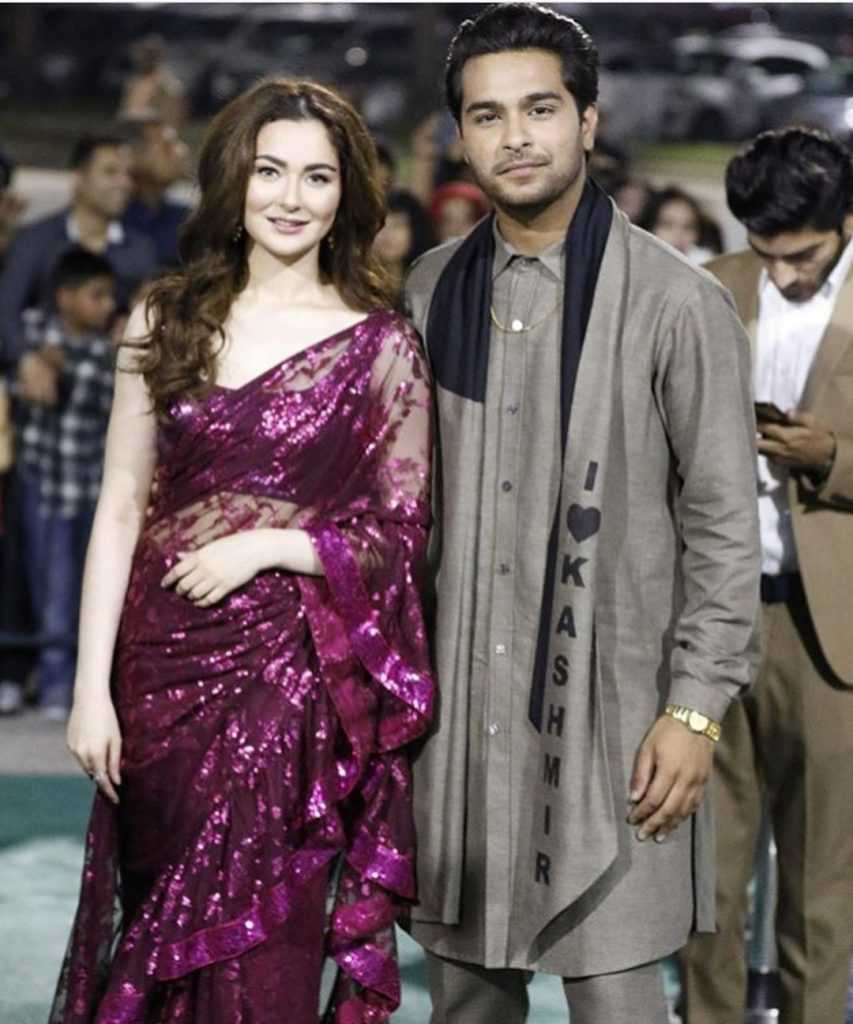 Hania Aamir with Asim Azhar
