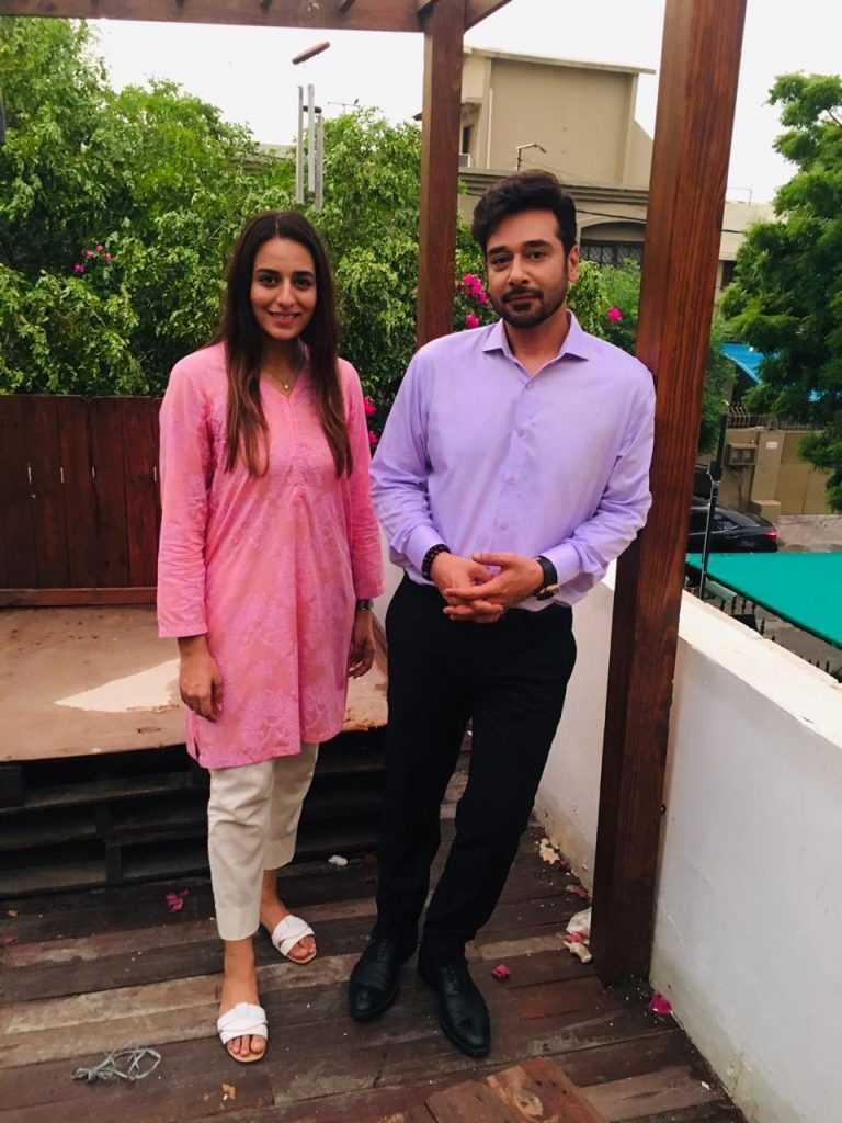 Kinza Razzak with Faysal Quraishi