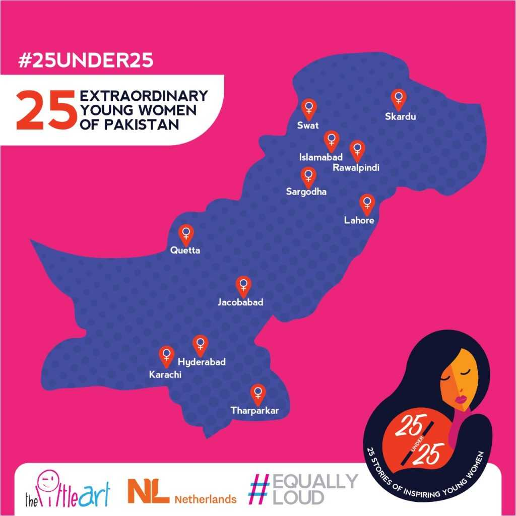 under 25 young women of Pakistan