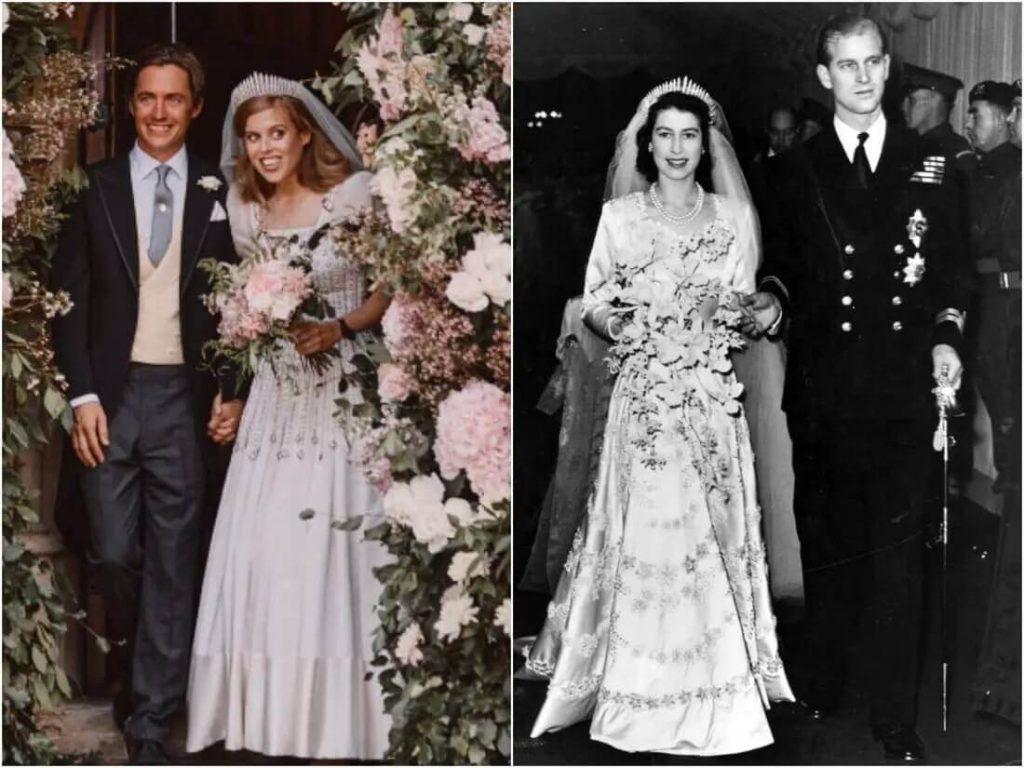 The tiara Princess Beatrice wore