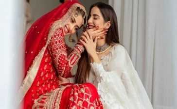 Saboor Ali heartfelt note for sister Sajal
