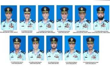 rank of air marshal,air vice marshals