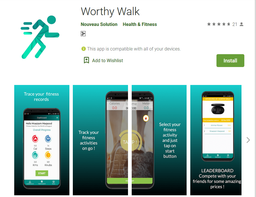 Pakistani app 'WorthyWalk'