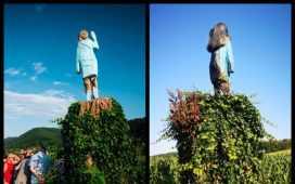 Melania Trump's statue
