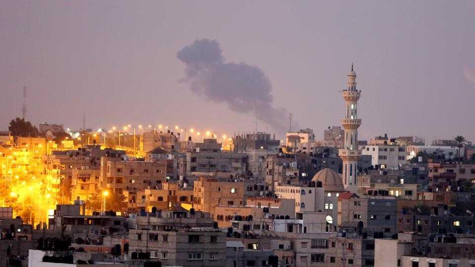 Hamas positions in Gaza