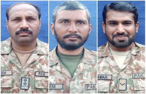 Three Soldiers Martyred