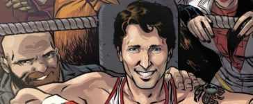 Justin Trudeau comic book