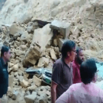 Karachi Rain: Landslide near Gulistan-e-Johar's Munawwar Chowrangi