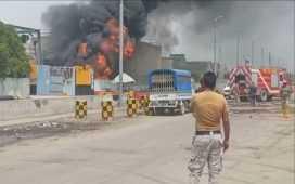Kemari Oil Terminal Fire