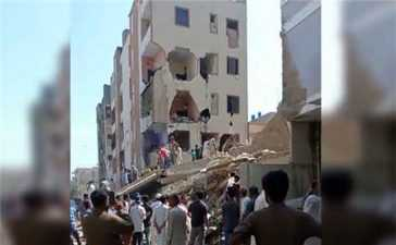 Residential building collapses