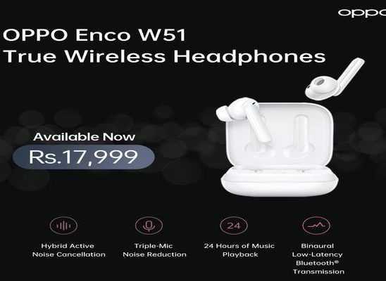 OPPO Enco W51 Heqadphones