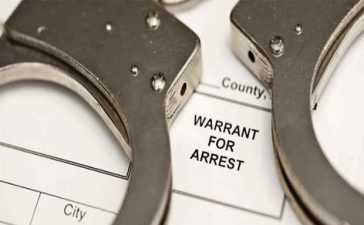 warrant for arrest