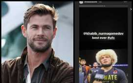 Chris Hemsworth Honors Khabib Nurmagomedov