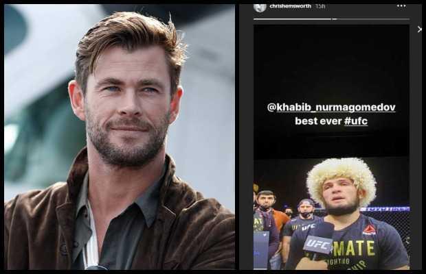Chris Hemsworth Honors Khabib Nurmagomedov