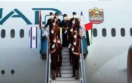 The first commercial passenger flight from the UAE