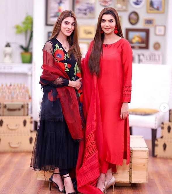 Nazish Jahangir with Nida Yasir