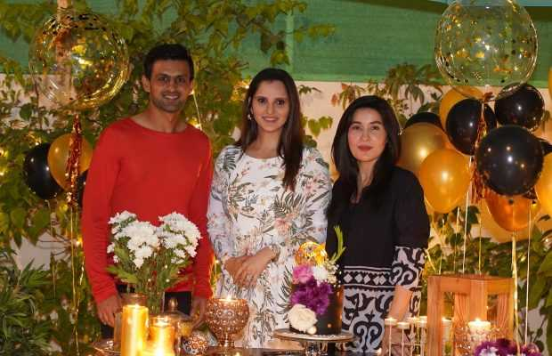 Mirza with husband and shaista