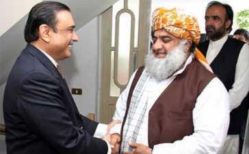Maulana Fazl-ur-Rehman visits Asif Zardari