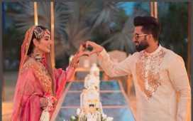 Sarah Khan wedding anniversary