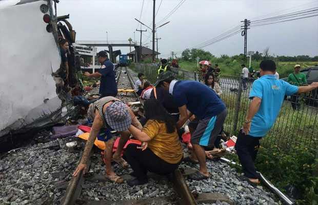 Thailand bus-train collision