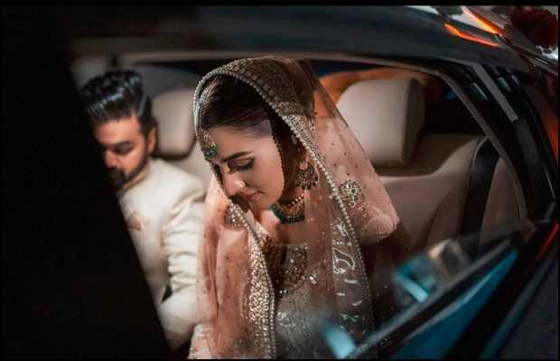 Rabab Hashim inside car