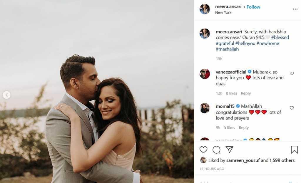 Meera captioned
