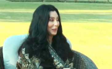 US celebrity singer Cher