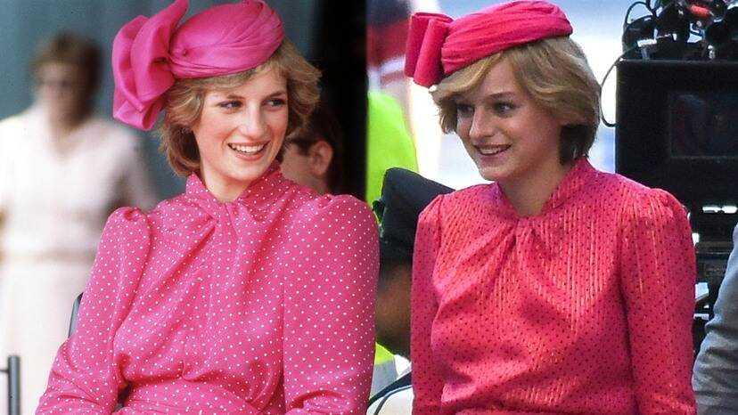 the fuschia dress Diana